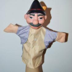 Marioneta papusa manuala teatru papusi, cap cauciuc corp textil, padurar - Jocuri arta si creatie