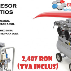 Compresor silentios cu tehnica dentara 50L - Compresor Service
