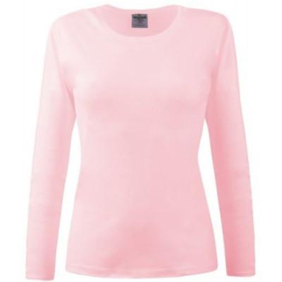 Bluza dama roz cu maneca lunga foto