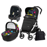 Carucior 3 In 1, Peg Perego, Book Plus 51 S, Black&Amp;White, Completo Elite, Peg Perego