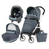 Carucior 3 In 1, Peg Perego, Book Plus 51, Black&Amp;White, Completo Elite, Peg Perego