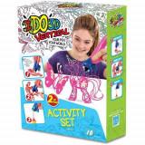 Ido3d - Set 2 Creioane 3D Roz Si Alb