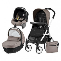 Carucior 3 In 1, Peg Perego, Book Plus 51, Black&Amp;White, Sportivo Bloom - Carucior copii 3 in 1