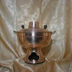 Raritate! Samovar cupru de epoca, Baroc Victorian, maner bronz
