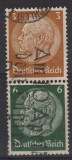12. TIMBRE, GERMANIA REICH, 1932-33, MARESAL HINDENBURG, PERECHE 3P SI 6 P., Militar, Stampilat