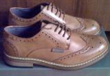 Pantofi Ben Sherman Triumph stil Brogue 41EU, 41, Maro, Piele sintetica, Ben Sherman