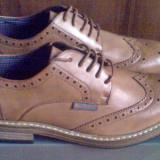 Pantofi Ben Sherman Triumph stil Brogue 41EU -produs original- IN STOC - Pantofi barbat Ben Sherman, Culoare: Maro, Piele sintetica