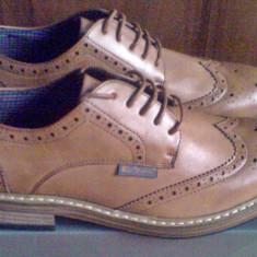 Pantofi Ben Sherman Triumph stil Brogue 41EU -produs original- IN STOC - Pantof barbat Ben Sherman, Culoare: Maro, Piele sintetica