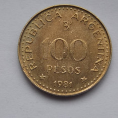 100 PESOS 1981 ARGENTINA, America Centrala si de Sud