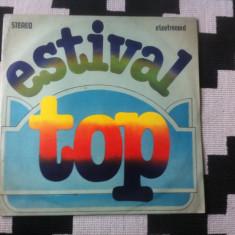 Estival top disc vinyl Muzica Pop electrecord rock 1985 semnal m trio expres rosu si negru, VINIL
