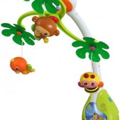 Carusel Muzical Cu Lumini Jungle - Jucarie interactiva Baby Mix
