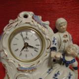 CEAS DIN PORTELAN CU COBALT MARCA MEISTER ANKER MECANISM JAPONEZ - Ceas de semineu