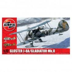 Kit Aeromodele Airfix 2063 Avion Gloster Gladiator J-8A/Gladiator Mk.Ii Scara 1:72 - Set de constructie