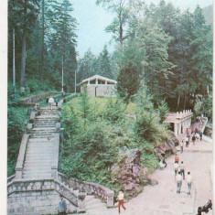 Bnk cp Slanic Moldova - Zona izvoarelor - circulata - Carte Postala Moldova dupa 1918, Printata