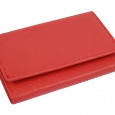 Portofel dama rosu din piele naturala SR201, Culoare: Bleumarin, Negru