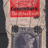 13. TIMBRE, LUXEMBURG, OCUPATIA GERMANA, 1940,  HINDENBURG 12 P; CHARLOTTE., Germania, Militar, Stampilat