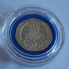 Moneda argint -20 pence 1982 Anglia -1116, Europa