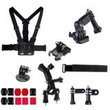 Kit 18 in 1 accesorii pentru camere sport