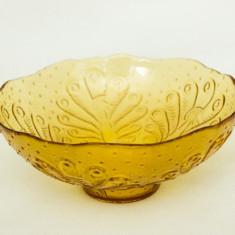 Bol/Fructiera de sticla cu pauni