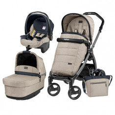 Carucior 3 In 1, Peg Perego, Book Plus S, Black, Pop-Up Elite - Carucior copii 3 in 1