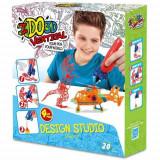 Ido3d - Set 4 Creioane 3D Portocaliu