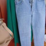 Jeans din denim - Blugi dama, Marime: S, Culoare: Albastru