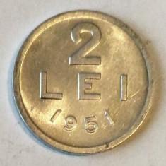 2 LEI 1951 ALUMINIU STARE AUNC - Moneda Romania