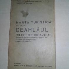 HARTA TURISTICA A MASIVULUI CEAHLAUL CU CHEILE BICAZULUI, CCA 1935 - Harta Romaniei