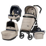 Carucior 3 In 1, Peg Perego, Book Plus 51 S, Black&Amp;White, Pop-Up Elite, Peg Perego
