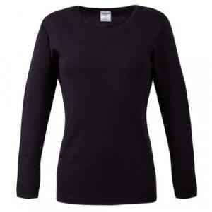 Bluza dama neagra cu maneca lunga