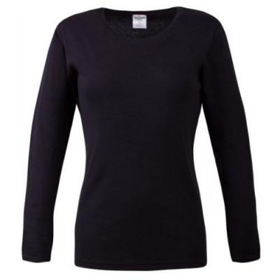 Bluza dama neagra cu maneca lunga foto