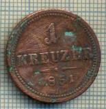 8898 MONEDA- AUSTRIA - 1 KREUZER -anul 1851 A - starea ce se vede, Europa