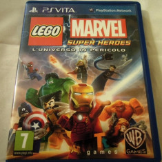 Lego Marvel Super Heroes Universe in Peril, PS Vita, alte sute de jocuri! - Jocuri PS Vita, Actiune, 3+, Single player