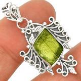 Pandantiv Moldavit -Ag 925 - Pandantiv argint