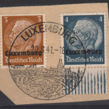 14. TIMBRE, LUXEMBURG, OCUPATIA GERMANA, 1940,  HINDENBURG 3 SI 4P., Germania, Militar, Stampilat