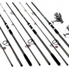 Set 3 Lansete Crap 3.3m Cu Mulinete DMR 60 Long Cast - Set pescuit