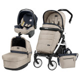 Carucior 3 In 1, Peg Perego, Book Plus 51, Black&Amp;White, Pop-Up Elite, Peg Perego