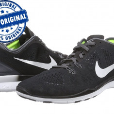 Adidasi dama Nike Free 5.0 - adidasi originali - running - alergare, Culoare: Negru, Marime: 38, 38.5, 39, Textil