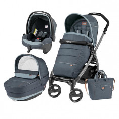 Carucior 3 In 1, Peg Perego, Book Plus 51, Black, Completo Elite - Carucior copii 3 in 1