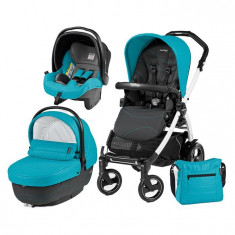 Carucior 3 In 1, Peg Perego, Book Plus 51 S, Black&Amp;White, Sportivo Bloom - Carucior copii 3 in 1