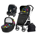 Carucior 3 In 1, Peg Perego, Book Plus S, Black&Amp;White, Completo Elite, Peg Perego