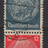 11. TIMBRE, GERMANIA REICH, 1932-33, MARESAL HINDENBURG, PERECHE 4 SI 12P., Stampilat