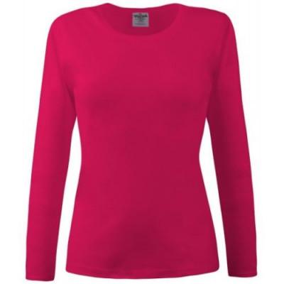 Bluza dama rosu siclam cu maneca lunga foto