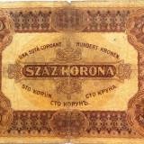 Bancnota 100 Coroane - UNGARIA, anul 1920 *cod 413 a circulat si in Ro!