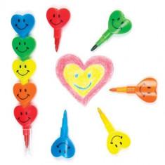 Creioane Colorate Inimioare Baker Ross - Creion