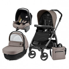 Carucior 3 In 1, Peg Perego, Book Plus S, Black, Sportivo Bloom - Carucior copii 3 in 1