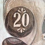 Bancnota 20 Schilling - AUSTRIA, anul 1967 *cod 407