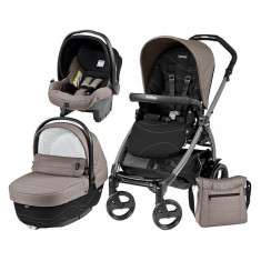 Carucior 3 In 1, Peg Perego, Book Plus 51, Black, Sportivo Bloom - Carucior copii 3 in 1