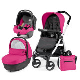 Carucior 3 In 1, Peg Perego, Book Plus S, Black&Amp;White, Sportivo Bloom, Peg Perego