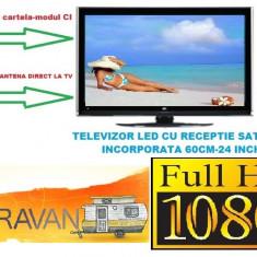 Televizor auto led full hd 60cm 12 volti cu receiver satelit incorporat - Televizor LED, 61 cm, HDMI: 1, USB: 1, Intrare RF: 1